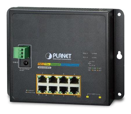 Industrialny przełącznik zarządzalny Planet 8 portów 10/100/1000T 802.3at PoE + 2 porty 100/1000X SFP – Switch Planet
