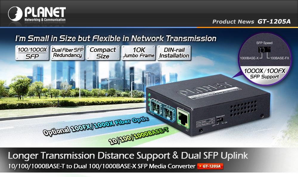 Nowa wersja konwertera GT-1205A firmy PLANET