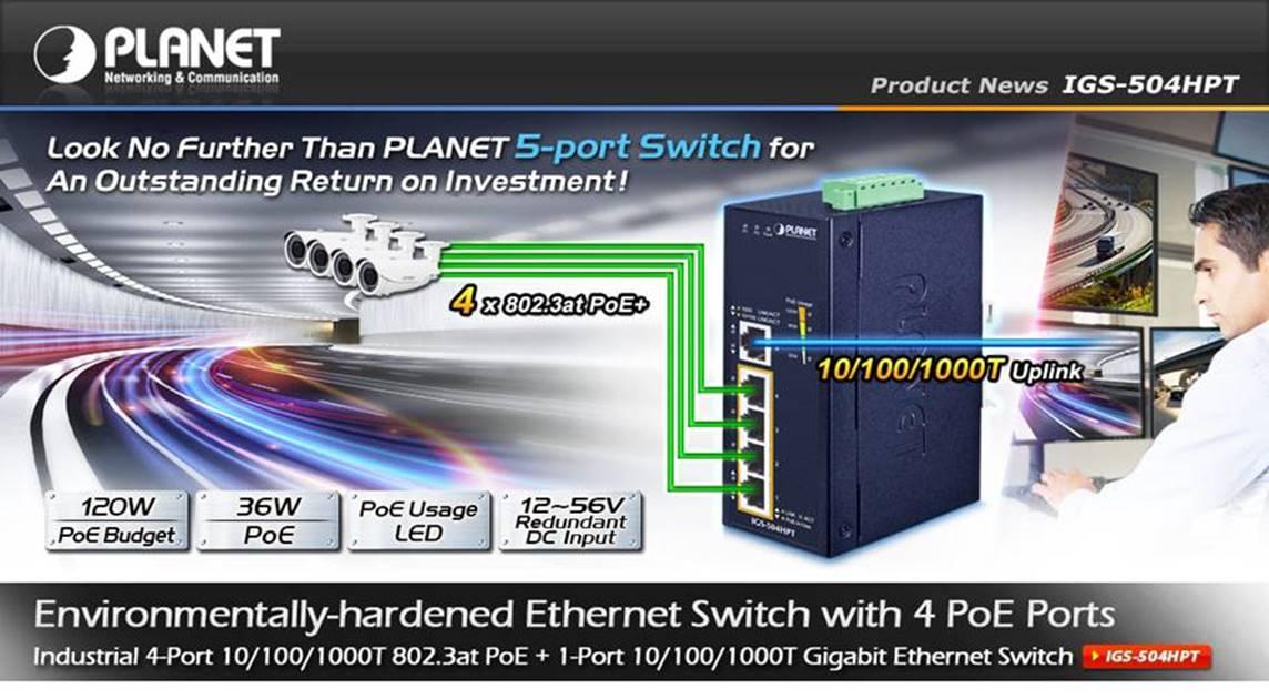 Switch z 5 portami gwarantujący doskonały zwrot z inwestycji